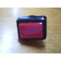 Pulsador Rectangular Rojo O Blanco Con Luz