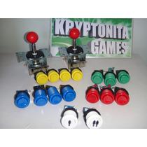 Combo 2 Palancas+14 Botones+ Player 1 Y 2 - Arcade Mame