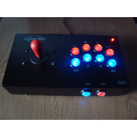 Joystick Arcade Mame Playcade Arcoiris Usb Nite Pc Y Ps3