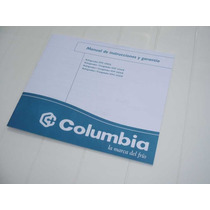 Manual Original Heladera Freezer Columbia Kohinoor Caballito