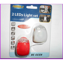 Luz Para Bicicletas Led Delantera /trasera 3 Posc Siliconad
