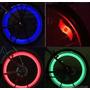 Luz Led De Rueda Bicicleta 3 Modos Flash ( Rojo,verde) Unida