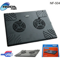 Base Para Notebook Con Doble Cooler, Noganet Nf-504, Abasto