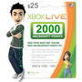 Código Microsoft Gift Card U$25 / 2000 Points Xbox 360 / One