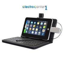 Funda Cuero + Teclado Usb Para Tablet 7 Pc Android