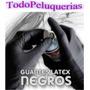 100 Guantes Negro Nitrilo Reutilizable P/ Alisado Tintura