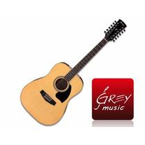 Guitarra Acùstica Ibanez Pf1512 12 Cuerdas- Grey Music