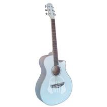 Guitarra Acustica Parquer Gac109mcvw Blanco Cuerdas Acero