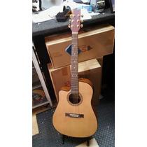 Guitarra Electroacústica Zurdo E115 Con Ecualizador Gracia