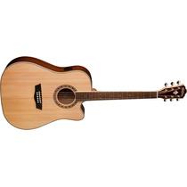 Guitarra Washburn Acustica Wd10 Sce Tapa Sólida 6 Cuerdas