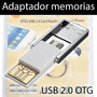 Adaptador 2 En 1 Otg Usb 2.0 + Lector Memoria Tablet Celular