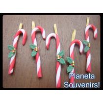 Adorno De Navidad Candy Cane Colgante Porcelana Fría