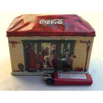 Coca Cola Casa De Lata Litografiada Vela Aromatizadora.