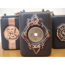 Hornillos De Ceramica Artesanal Con Canasta P/aceite