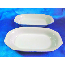 El Arcon Par De Bandejas Fuentes Porcelana Tsuji 28cm 21111