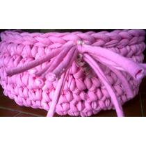 Cuenco / Cesta / Canasta De Totora Al Crochet