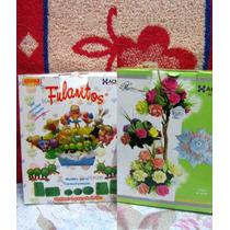 12 Pares Moldes Para Flores C/ Goma Eva - Fulanitos Y Rosas