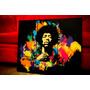 Cuadros Modernos Jimi Hendrix. Tríptico. Música, Rock.
