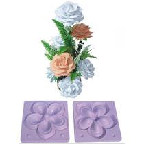 1 Par Molde / Frisador P/ Rosa Gigante P/ Flores Goma Eva