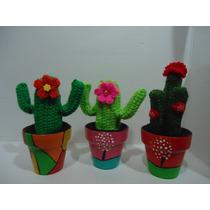 Cactus Crochet En Macetas, Ideal Dia De La Primavera