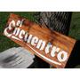 Carteles Letreros Placas Conmemorativas En Madera Tallada