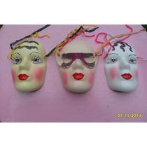 Mascara Tipo Veneciana Decoración Cerámica $ C/u