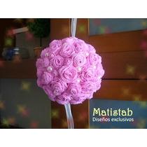 Esferas Decorativas Colgantes Rosas De Papel. Divinas!!