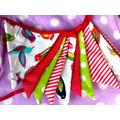 Banderines De Tela, Navidad, Fiestas, Eventos, Cumples