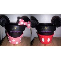Maceta Mickey Minnie Golosinero Candy Bar Porcelana Torta