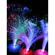 Centro De Mesa Luminoso. Fibra Optica. Fiestas C/ Pilas