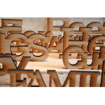 Palabra Decorativa Mdf Sin Pintar Fibrofacil Corte Laser 9mm