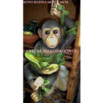 Mono Chimpance De Resina Adornos De Jardin ...más Animales