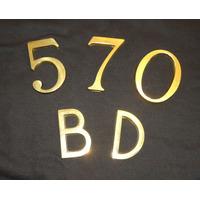 Números Y Letras De Bronce Leer Bien Microcentro