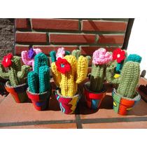 Cactus Crochet En Macetas Decoradas Artesanias Originales
