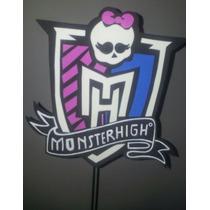 Adorno Pinche Torta - Monster High - Goma Eva 18 X 18 Cm