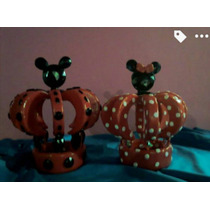 Coronas Mickey Minnie Porcelana Fria