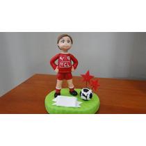 Jugador De Fútbol, Arquero, Porcelana Fría. Adorno De Torta