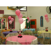 Centro De Mesa Minnie Globos Minnie