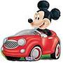 Mickey En Auto Rojp De 24 Pulgadas Excelente Calidad