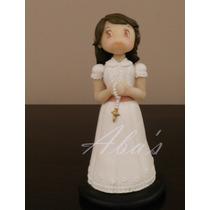 Adorno Para Torta, Nena Comunión, Porcelana Fria