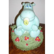 Hipopotamo Bebe Adorno Para Torta Porcelana Fria Souvenir