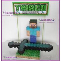 Minecraft Adorno + 40 Souvenirs + Envio Gratis Via Oca