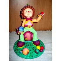 Adorno De Torta Para Cumpleaños De Payasos En Porcelana Fria