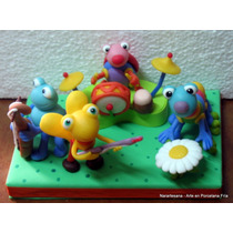 Big Bugs Band Babytv Adorno Para Torta Porcelana Fría