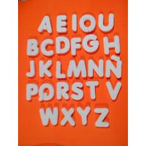 Letras - Numeros - Frases - Apliques En Telgopor Blanco,