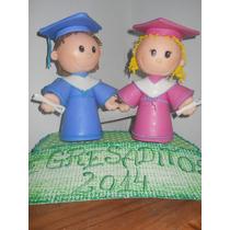 Muñecos De Egresados En Porcelana Fría