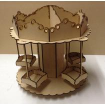 Porta Cupcakes O Caramelera Carrusel Calesita Mdf Laser