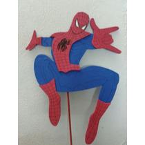 Adorno Pinche Torta - Spiderman - Goma Eva 23cm X 14cm Aprox