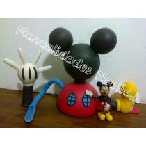 Adorno Para Torta De La Casa De Mickey Mouse,incluye Mickey