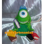 Adorno De Torta Mike Wazowski Monsters Inc Porcelana Fria